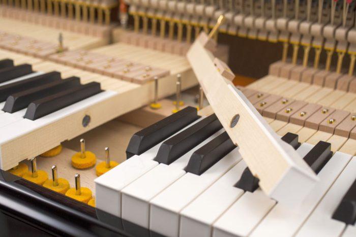 122 Detail 23 keys felts 3 web 700x467 - خرید پیانو فویریخ مدل 122 Feurich