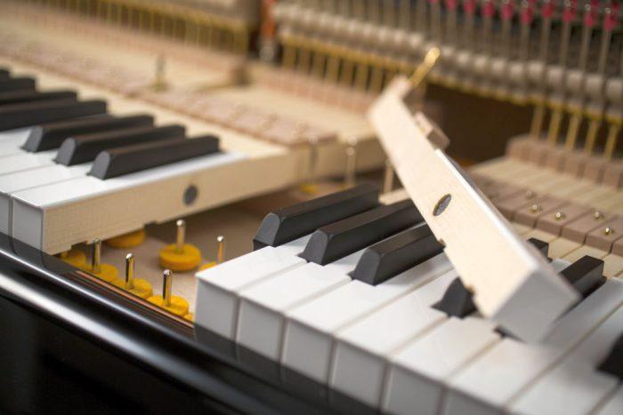 122 Detail 24 keys felts 4 web 700x467 - خرید پیانو فویریخ مدل 122 Feurich
