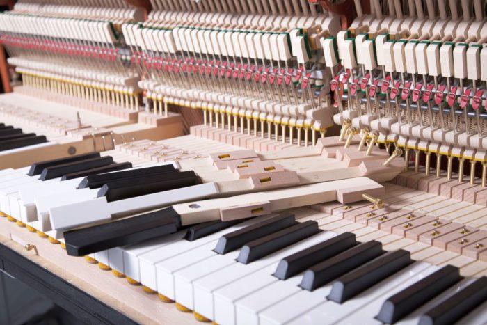 122 Detail 253 keys felts 8 web 700x467 - خرید پیانو فویریخ مدل 122 Feurich