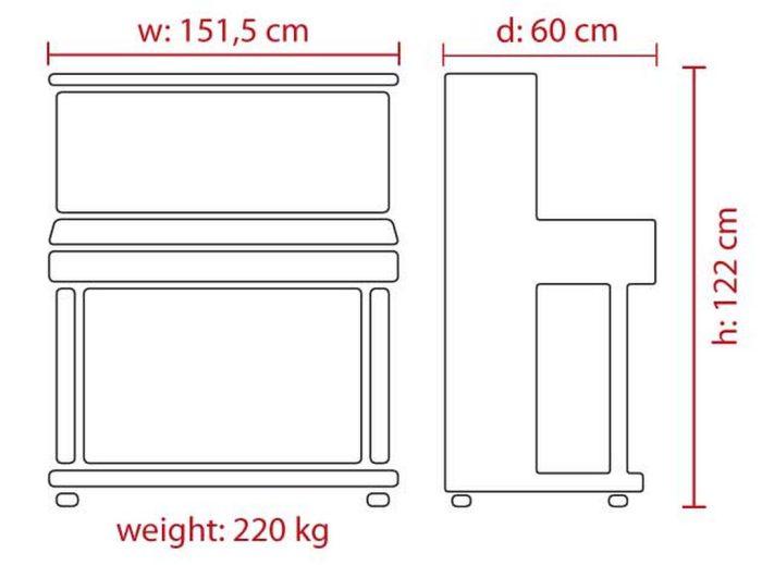 dimensions 122 web 700x519 - خرید پیانو فویریخ مدل 122 Feurich